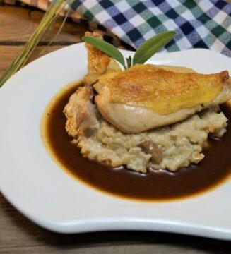 KücheDaheim - Maishähnchen, Steinpilz-Risotto