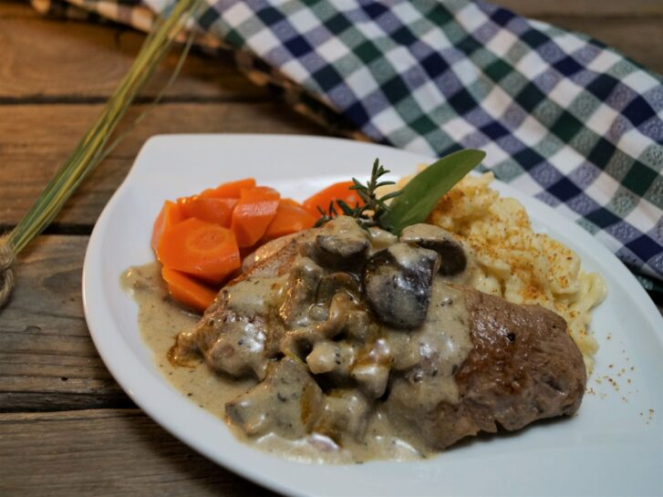KücheDaheim- Schweinefilet, Waldpilzrahm